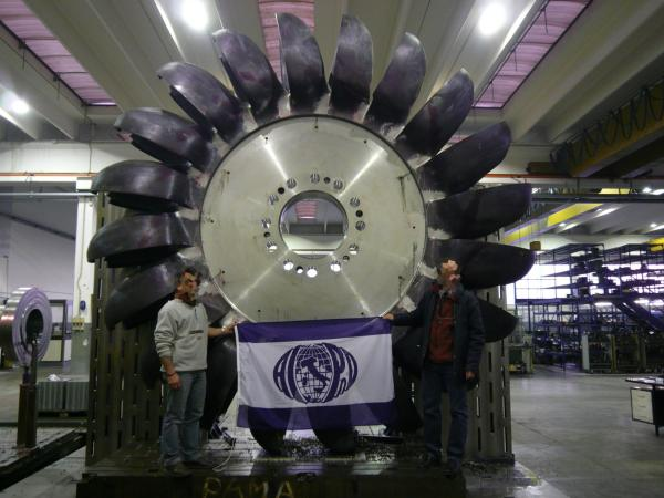 Pelton turbine testing